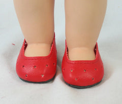 Red Slip On Doll Shoe