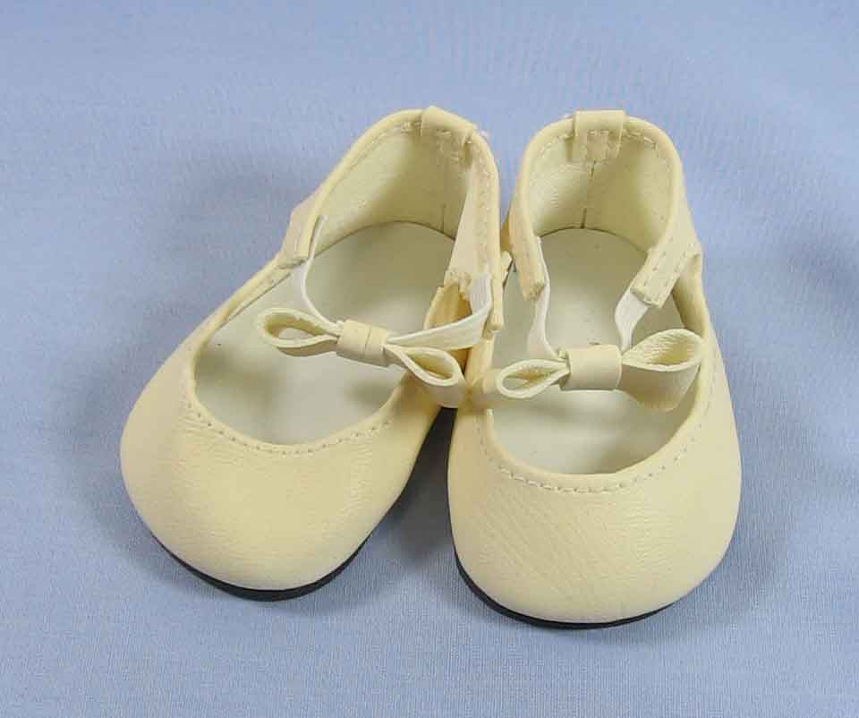 Doll Shoes 37mm WHITE Classic Ankle Straps
