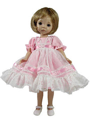 "7"" Lacy Pinafore Doll Dress"