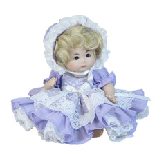 "8"" Pastel Dress w/Bonnet"