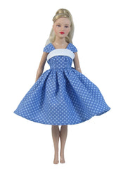 "9"",10"" Dotted Fashion Doll Dress"
