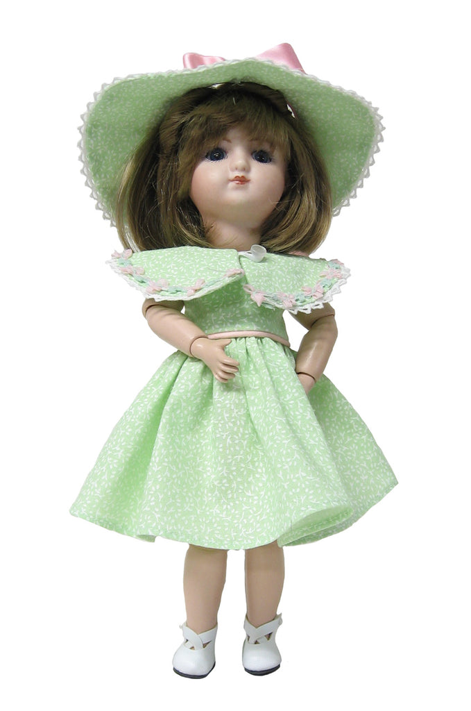 "Mint Dress for 9"" Loulotte Doll - Bleuette's Little Sister"