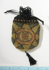 Black Tapestry Purse for Dolls