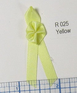 "Yellow Rosette 3/8"" w/Streamers"