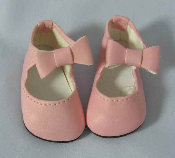 Doll Shoes 37mm DARK PINK Classic Ankle Straps