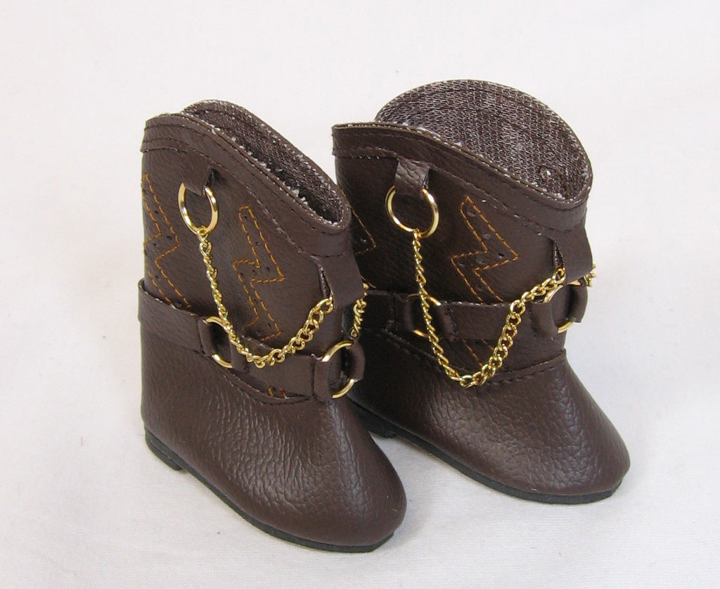 Brown Cowboy Boots for Goodfellow Dolls