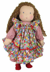 "16"" Smocked Pinafore Waldorf Doll Dress"
