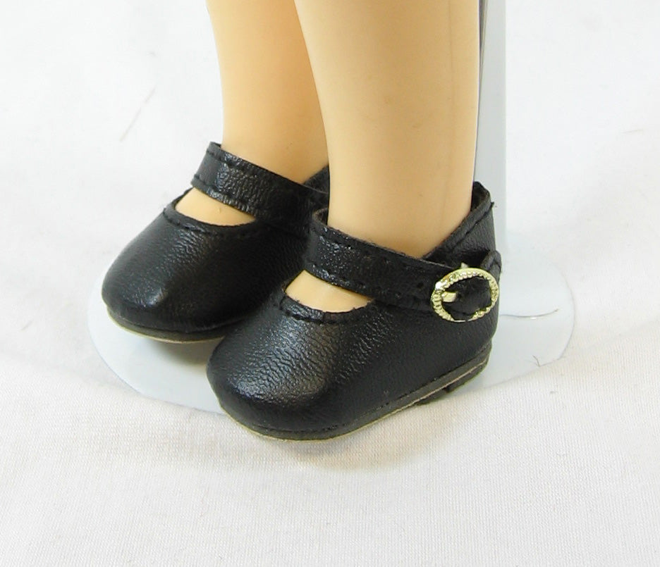 Black Doll Shoe with Strap