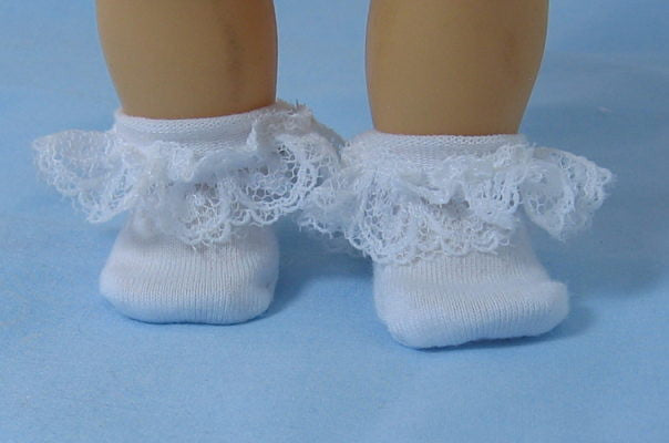 Lace Anklets  for Small Dolls