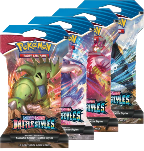 Pokemon Battle Styles Cardboard Sleeve Booster Packs - PokeCharles PokeStore