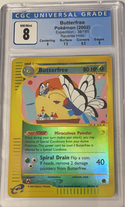 Butterfree 38/165 -  Rev Holo -Expedition 2002 - Graded Pokemon Card