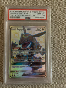 PSA 10 Rayquaza GX Full Art 2018 Pokemon Hidden Fates 177a