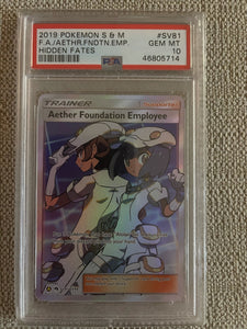 PSA 10 Aether Paradise Conservation Area 2019 Pokemon Hidden Fates SV87