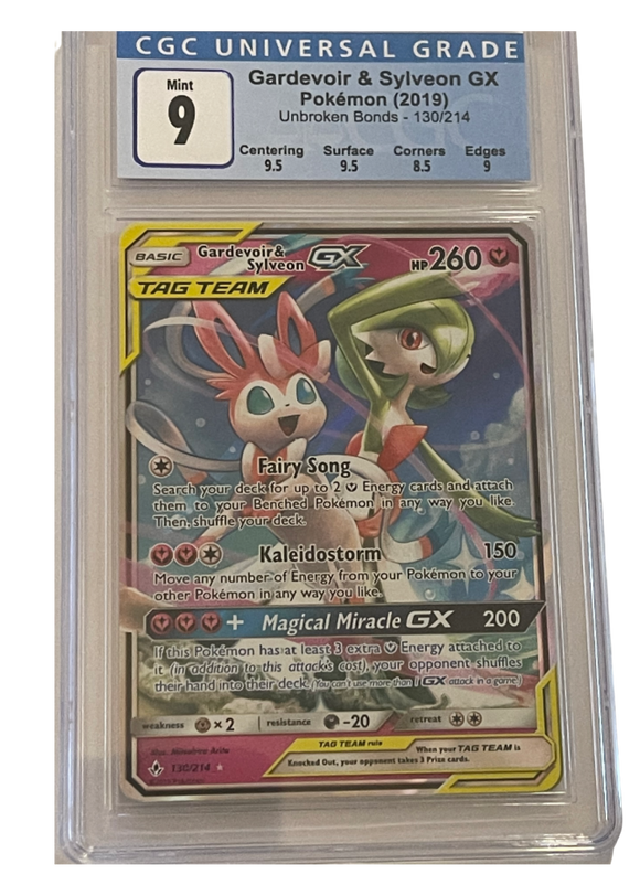 Gardevoir & Sylveon GX 130/214 - Graded Pokemon Card