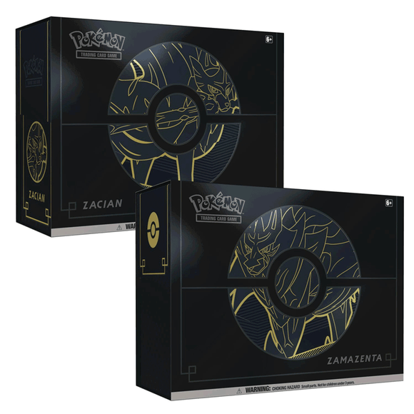 2 Zacian & Zamazenta ETB Plus - One of Each - LIMIT 1 PER CUSTOMER