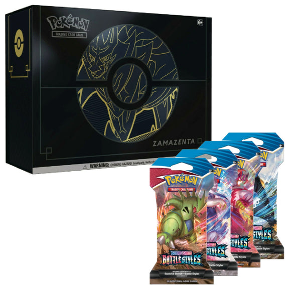 1 Zacian & Zamazenta ETB Plus  &  10 Battle Styles Blisters