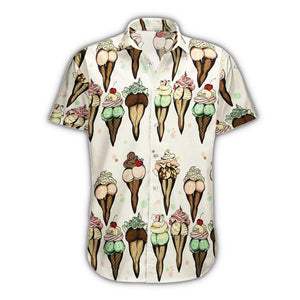 Cream Body Hawaii Shirt