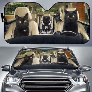 Black Cats - Animal Car Sun Shade