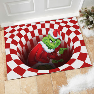 Grinch illusion doormat - Doormat