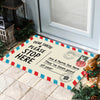 Christmas Postcard - Doormat