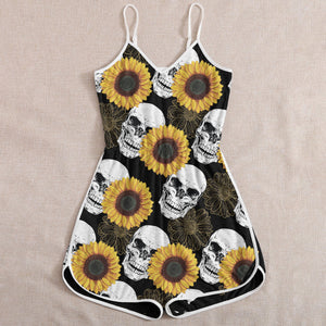 Skull Sunflowers Rompers
