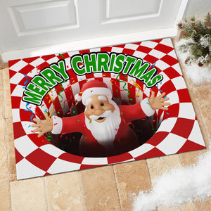 Santa merry christmas Illusion Doormat
