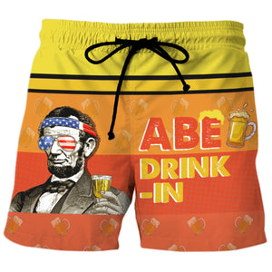 Abe Drinkin - Custom Swim Trunks