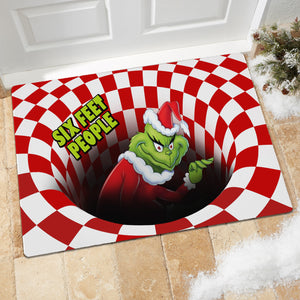 Red Grinch illusion doormat - Doormat
