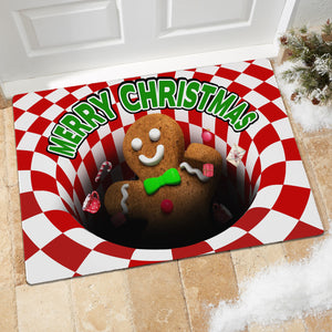 Gingerbread Man Illusion Doormat