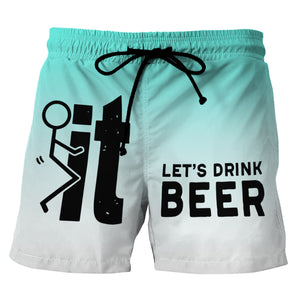 Let's Drink Beer - Custom Swim Trunks