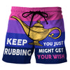 Keep Rubbing - Custom Swim Trunks