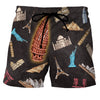 Stop Staring At My Pisa Tower Black - Custom Swim Trunks
