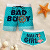 Couple Matching - Bad Buoy And Naughti Girl - Shorts