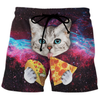 Cat Galaxy - Custom Swim Trunks