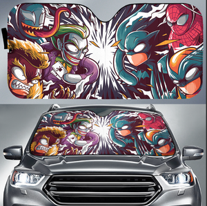 Super Hero Car Sun Shade