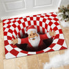 Red Santa Illusion - Doormat