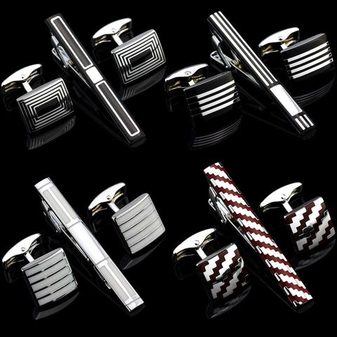 Luxury Metal Cufflink / Necktie / Tie Bar Set - my-haha-gifts