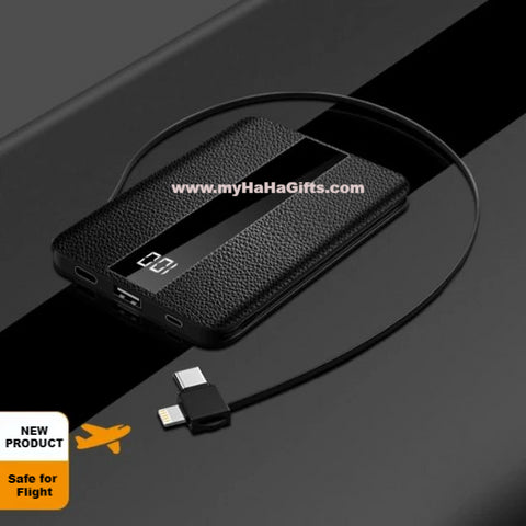 Super Slim 10000mAh Built-in Cable for Andoid TypeC Apple - YBW02