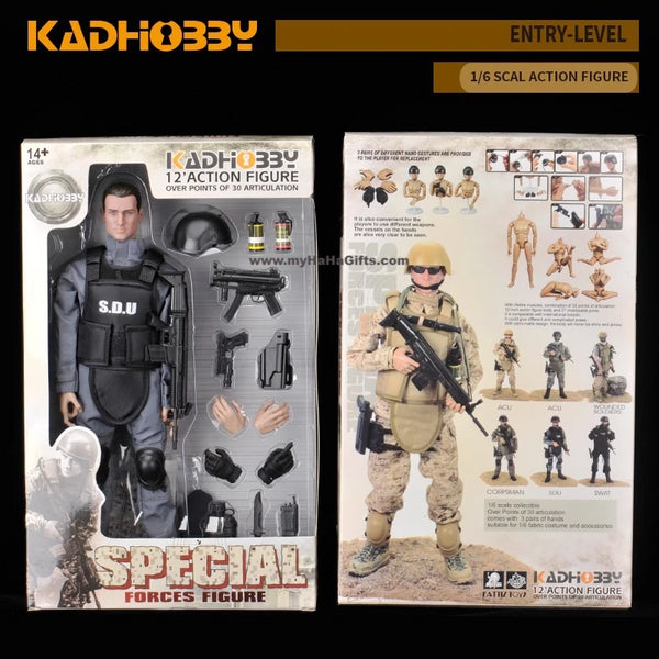 KadHobby NB05 1/6 Scale 30cm Action Figurine - SDU Special Forces
