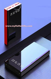 10000mAh Full Mirror Power Bank Digital Display Dual LED Light - YL02