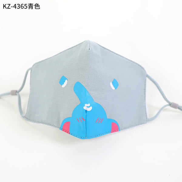Children cartoon cloth mask with adjustable ear-loop MS-001