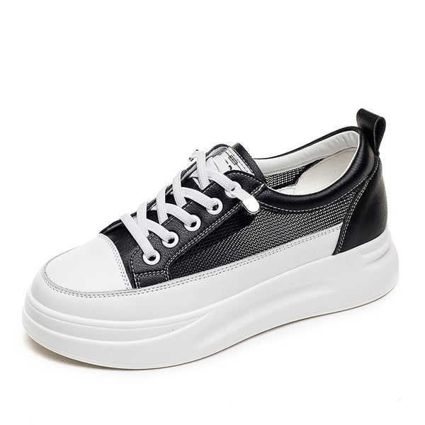 Ladies Leather Sneakers with heighten insoles