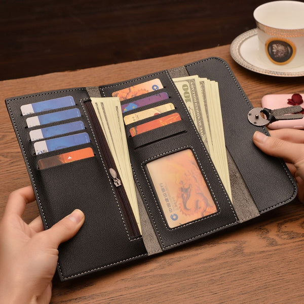Long Wallets PU Leather Purse - my-haha-gifts