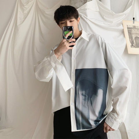 Korean Style Ulzzang Loose Casual Shirt - my-haha-gifts
