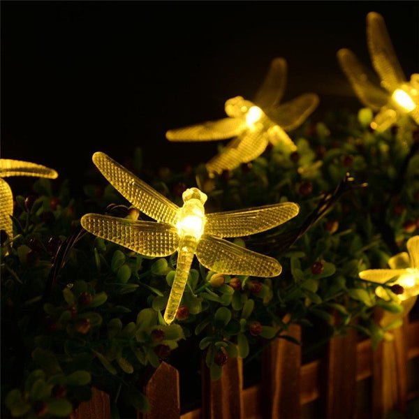 5m 30 Pieces Dragon Fly Solar LED Decoration Lights - my-haha-gifts