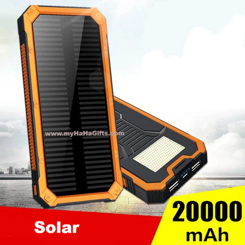 Solar 20000mAh ABS Casing Power Bank with Camping LED Light - YL07