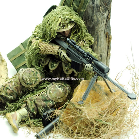 30cm 1:6 Realistic Soldier Military Action Figures with Movable Joint - All Terrain Desert Sniper