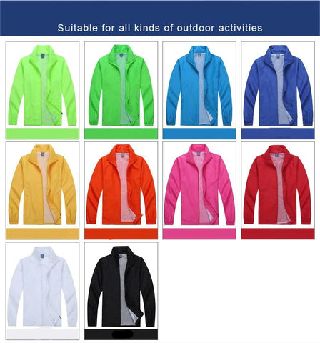 Customized waterproof windbreaker AL-WB-A1