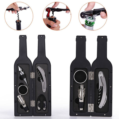 3Pcs/5Pcs Wine Bottle Corkscrew Set - my-haha-gifts