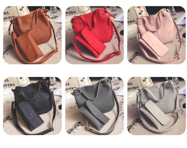 2pc set PU leather Handbag with long wallet FA-89871